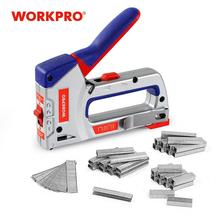 Staple-Gun WORKPRO Manual Home-Decoration Heavy-Duty for DIY Furniture with 4000 Nailer