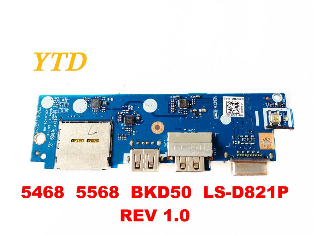 Original for DELL 5568  USB  board 5468  5568  BKD50  LS D821P  REV 1.0 tested good freeshipping|Internal Memory Card Reader|Computer & Office - title=