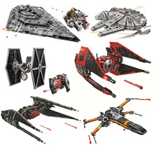 New Star Red Tie Fighter MicroFighters Wars The Rise of Skywalker Building Blocks StarWars 75240 Toys gift цена 2017