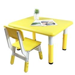 Kinderen bureaus en stoelen kleuterschool bureaus en stoelen kan worden opgeheven leren tafel thuis plastic tafel te eten en schrijven tafel