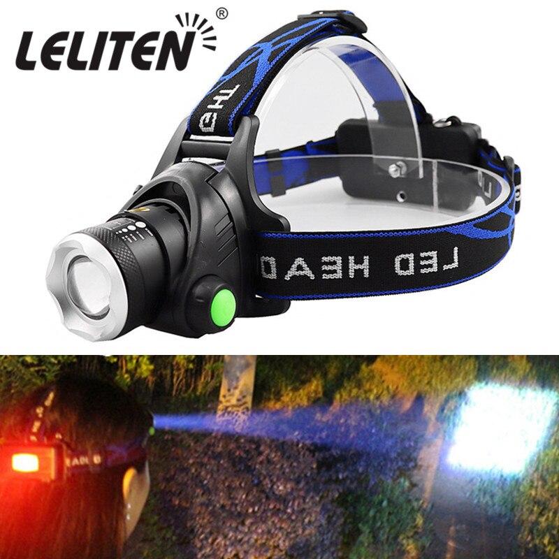 Портативный масштабируемый xml-t6 L2 V6 светодиодный головной светильник с зумом, светильник для рыбалки, походный налобный фонарь, походный фл...