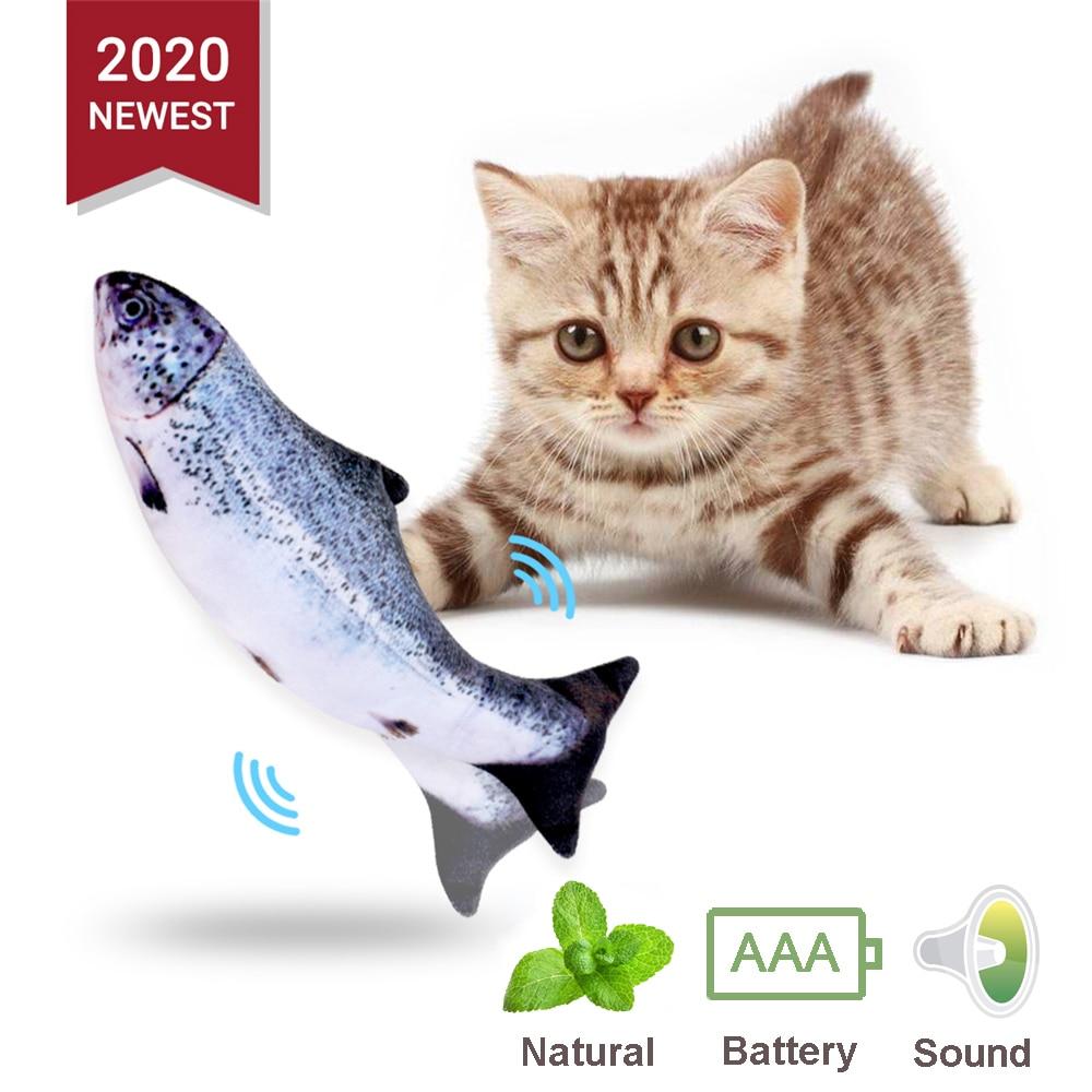 Pez De Juguete,Peces Artificiales,Juguete Interactivo Para Gatos,Juguete Interactivo Para Gatos Con Luces Led,Los Juguetes De Pl/ástico Para Peces Estimulan El Instinto De Cazador De Las Mascotas 4pcs