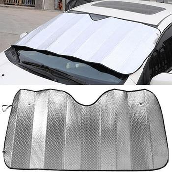 1Pc Foldable Car Windshield Visor Cover Front Rear Block Window Sun Shade image