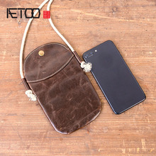 AETOO Ms. mobile phone bag 2018 new student wild summer shoulder slung simple retro leather