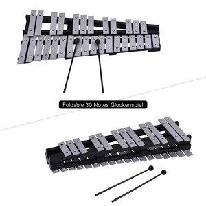 Image 4 - 30 ملاحظة قابلة للطي glockenspel إكسيليفون إطار خشبي قضبان ألومنيوم تعليمية قرع آلة موسيقية هدية