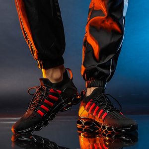 Image 3 - New Fishbone Blade Shoes Fashion Sneaker Shoes for Men Plus Size 46 Comfortable Sports Mens Red Shoes Jogging Casual Shoes 48