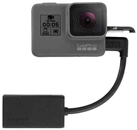 Adaptador de micrófono GoPro Original de 3,5 MM para HERO 8 HERO 7 HERO5 negro/HERO5 Session/HERO6 negro AAMIC-001 Cable adaptador de micrófono