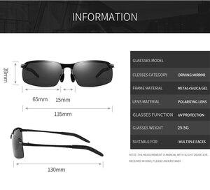 Image 5 - Fotokromik polarize güneş gözlüğü erkekler için klasik sürücü güneş gözlüğü gözlük Vintage gözlük balıkçılık Discolor Lens UV400