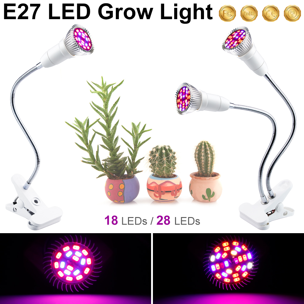PEIQI Full Spectrum E27 Plant Lamp Grow Lights Bulb 18W 28W LED Growing Lights For Indoor Greenhouse LED Vegetable Flower 2835