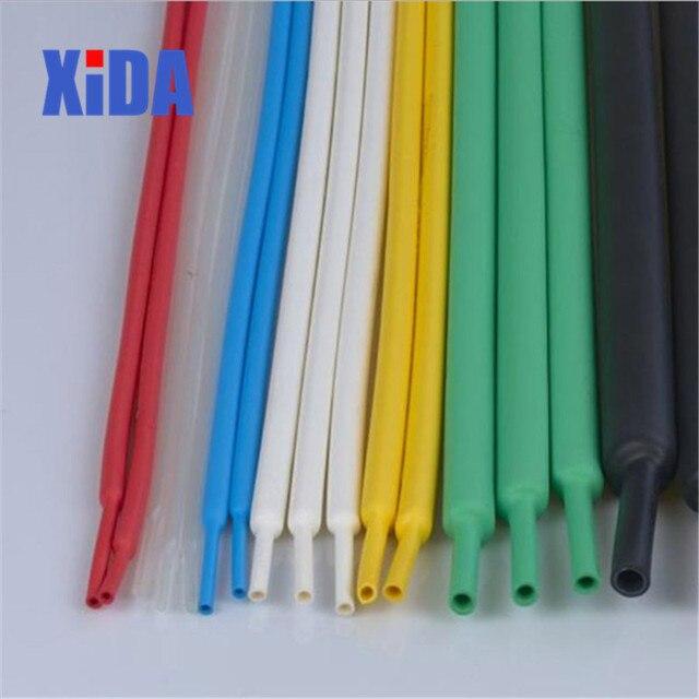 Rurka termokurczliwa 1 metr 21 kolor 1 2 3 5 6 8 10mm średnica termokurczliwe przewód rurowy złącze owinąć drut naprawy rury rękaw kablowy termokurczliwy