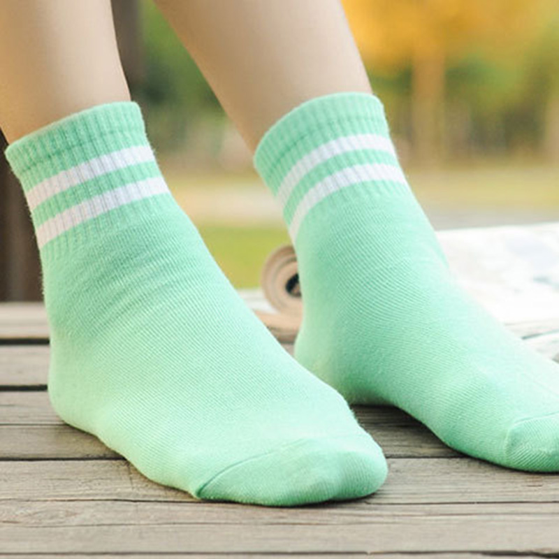 High Quality 5 Pair/10 Pair Two Bars Striped Men Women Socks Retro School Student Harajuku Socks
