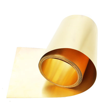 1PC Brass Metal Thin Sheet Foil Plate Thick 0.1/0.2/0.3/0.5mmx10/20/30/40/50mmx1000mm