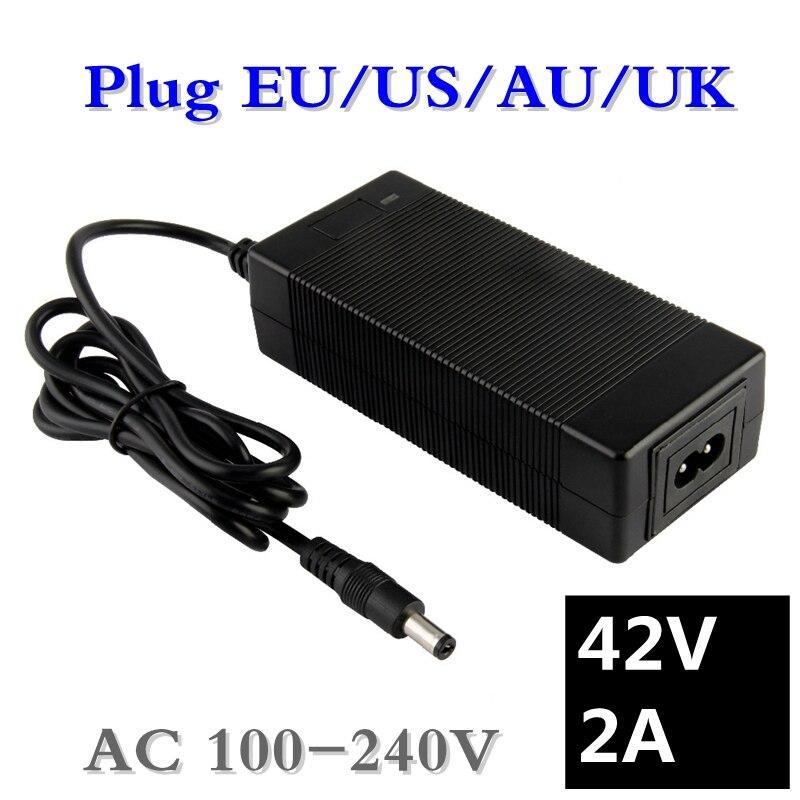 yzpower 42/V 5/A Litio Li-Ion Li-Poly cargador de bater/ía para 10/Serie 36/V el/éctrico bicicleta RCA Plug
