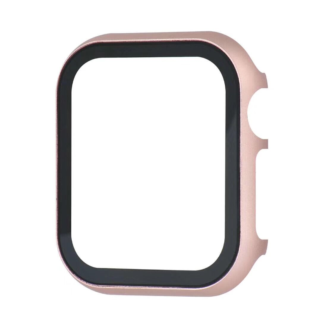 Protection Bumper Case For Apple Watch Tempered Glass Film With Cover 40mm 44mm 38 42 Aluminum Alloy 2 In 1 For Iwatch 5 4 3 2 1