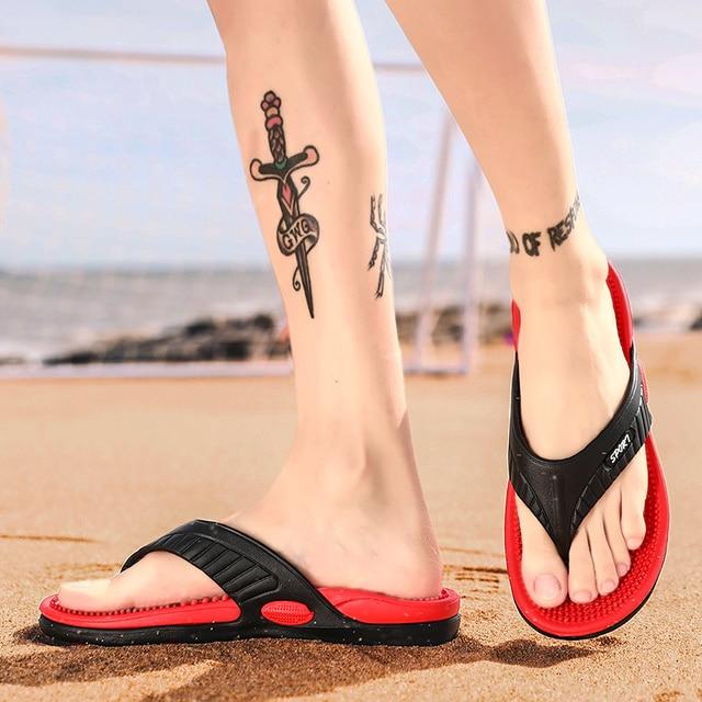 Massage Flip-flops Summer Men Slippers Beach Sandals Comfortable Men Casual Shoes Fashion Men Flip Flops Hot Sell Footwear 2021 5
