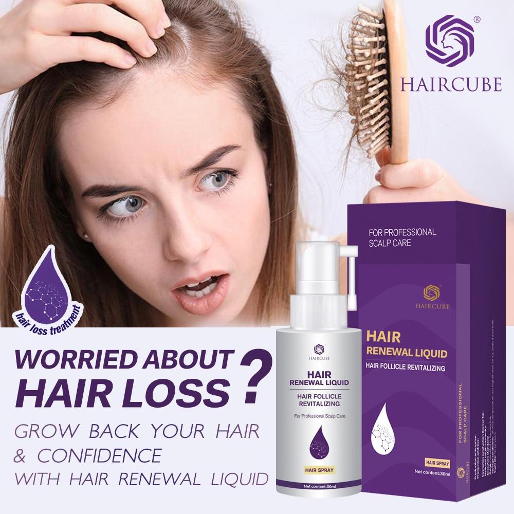 Haircube cabelo rápido crescimento essência óleo anti perda de cabelo denso reparação do cabelo danos soro cabelo natural orgânico cuidados com o cabelo spray