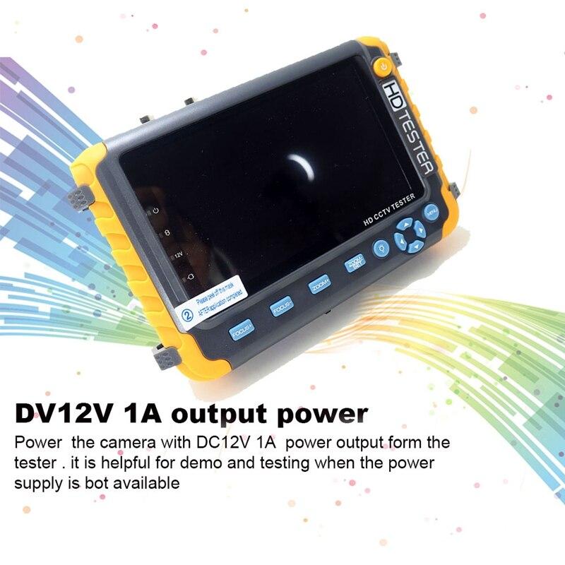 5 Polegada tft lcd hd 5mp tvi ahd cvi cvbs analógico câmera de segurança tester monitor em um cctv testador vga hdmi entrada iv8w - 2