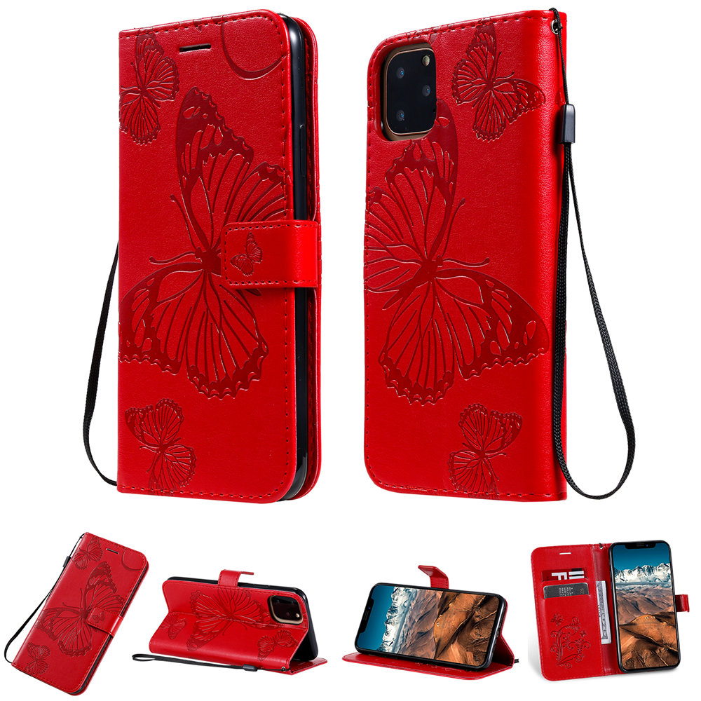 Butterfly Leather Wallet Case for iPhone 11/11 Pro/11 Pro Max 10