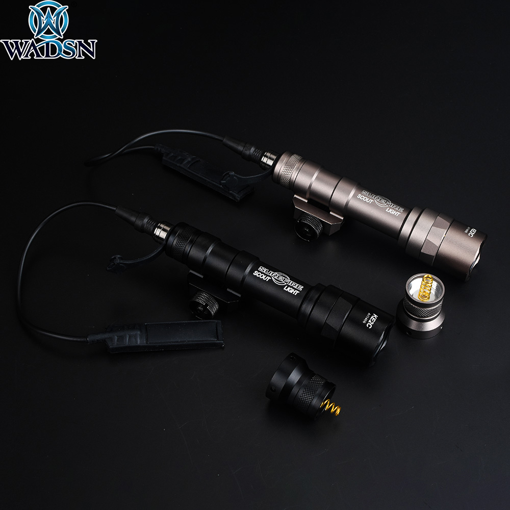 WADSN Airsoft Surefir M300 M300A Mini Scout Light LED 280lumens Tactical Weapon Flashlight Torch Outdoor Hunting Rifle Light