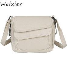 WEIXIER 2019 White Summer Bag Leather Luxury Handbags Women Bags Designer Female Shoulder Messenger Mother LY-59