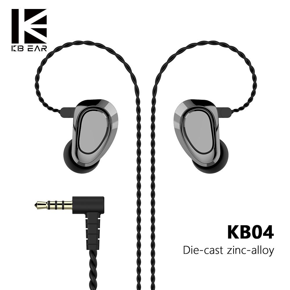 KBEAR KB04 1BA+1DD Hybrid Drivers In Ear Earphone HIFI DJ Monitor Earphone Earbuds With 2PIN Cable Metal Earbud KBEAR KB04/KB10