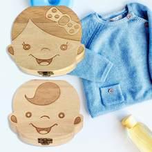 Holz Baby Zahn Box Kinder Zähne Lagerung Box Zähne Nabelschnur Lanugo Organizer Milch Zähne Sammeln Geschenk Andenken Sparen