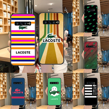 LACOETE French Luxury Brand Phone case For Samsung Galaxy S 10 20 3 4 5 6 7 8 9 Plus E Lite Uitra black hoesjes silicone back(China)