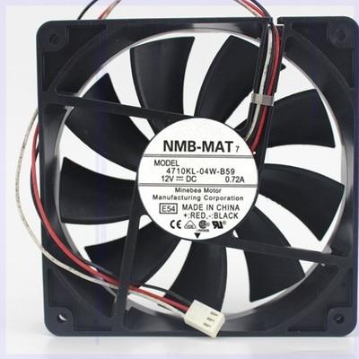 4710KL-04W-B59 Japan NMB 12025 12V 0.72A Cooling Fan