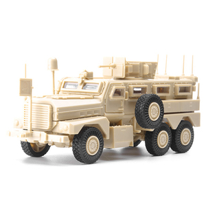 1:72 4D Assembly Model Cougar 6X6 Lightning Protection Vehicle Anti-ambush Vehicle Rubber-free Military Gifts for Boys