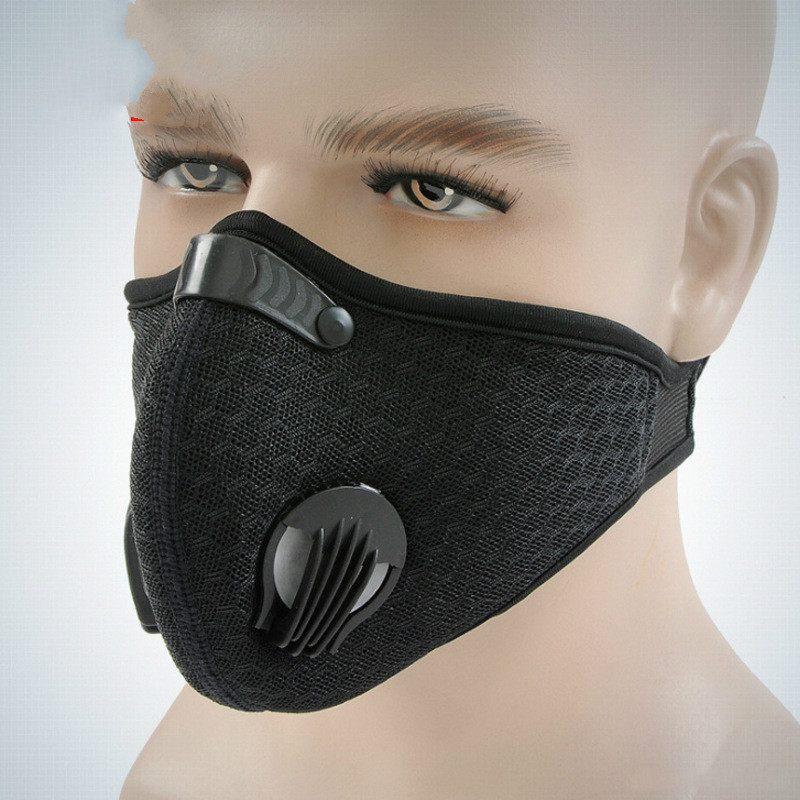 1pc Unisex Sponge Dustproof PM2.5 Pollution Half Face Mouth Mask With Breath Wide Straps Washable Reusable Muffle Respirator