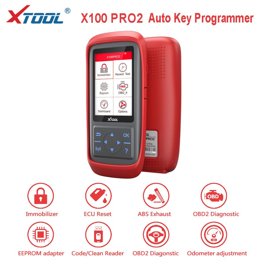 [XTOOL Distributor]Xtool X100 PRO2 Auto Key Programmer Diagnostic Tool OBD2 Odometer  Adjustment With EEPROM Code Reader Adapter
