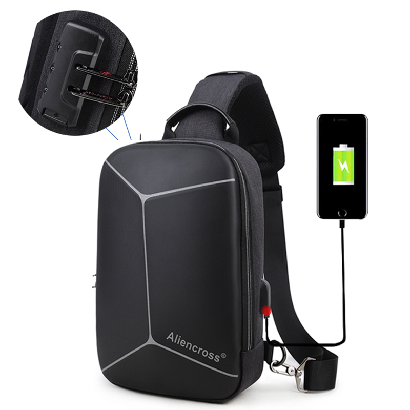 Anti Theft Men Crossbody Bags Oxford USB Charging Man Chest Bags Pack Short Trip Men Messenger Shoulder Bag Male Water Repellent