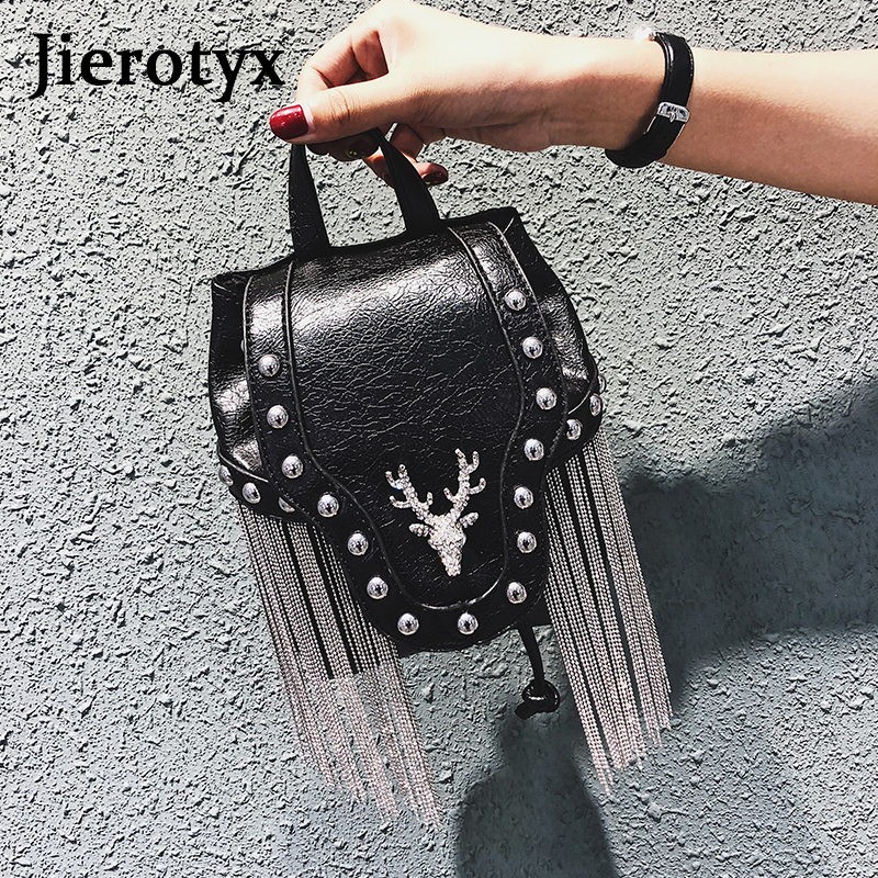 Image 3 - JIEROTYX Fashion Gothic Rock Leather Vintage Retro Steampunk Handbag Shoulder Bag Coin Purse Holder Women Messenger Bag 2020Top-Handle Bags   -