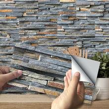 27PCS/PACK 20x10cm Dark Grey Mosaic Bricks Wall Sticker Self-adhesive Bath Kitchen PVC Wall Tile Sticker DROP SHIPPING