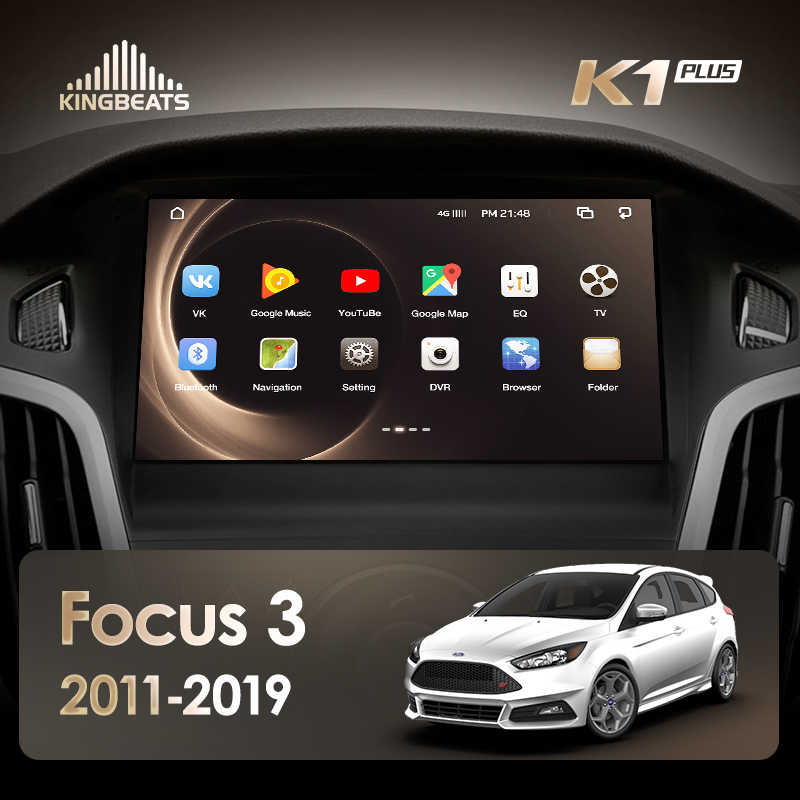 KingBeats Android 8.1 Octa-Core head unit 4G in Dash Car Radio Multimedia Video Player Navigation GPS For Ford Focus 3 2011-2019