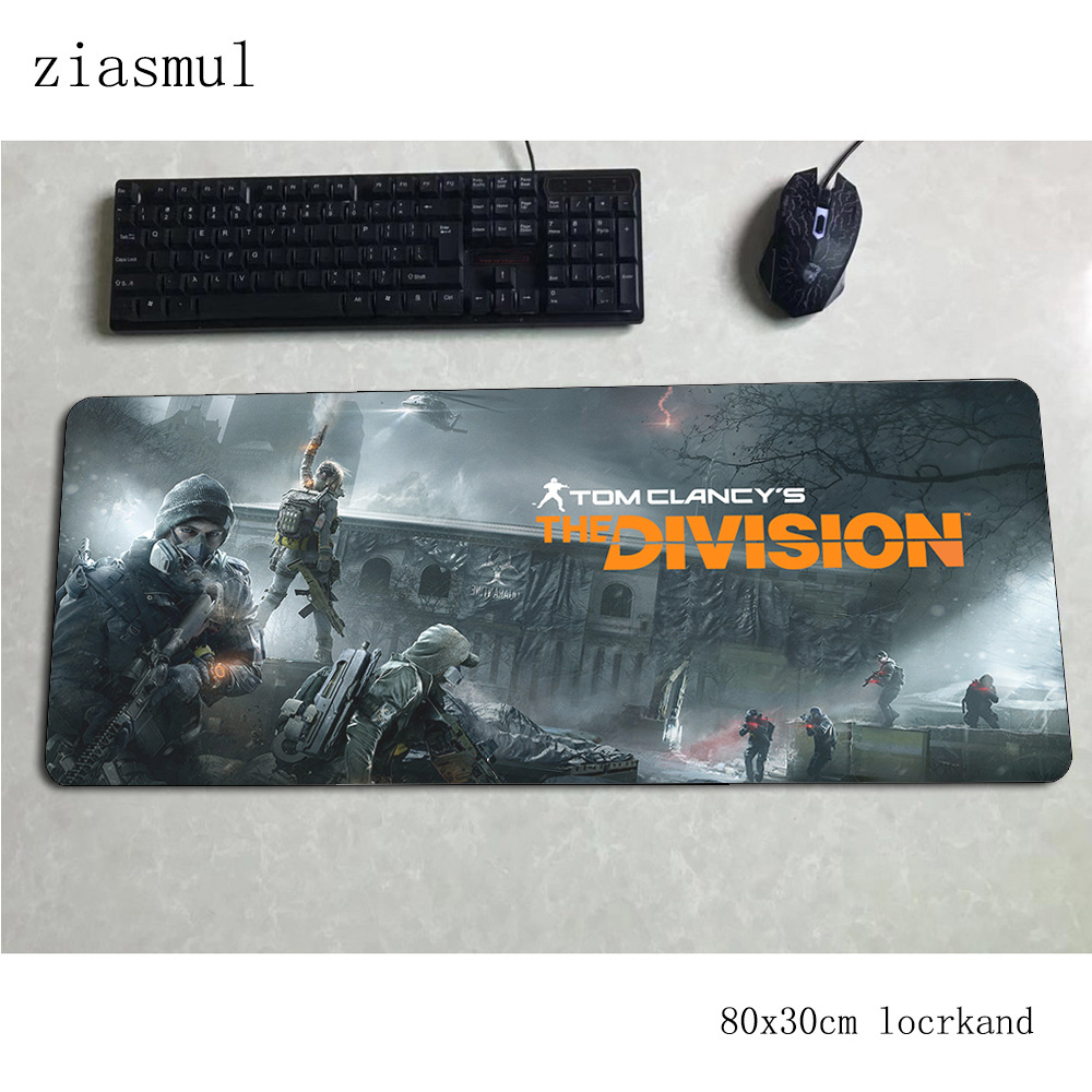 Tom Clancy's The Division Padmouse 80x30cm Gaming Mousepad Game Large Mouse Pad Gamer Computer Desk Mat Notbook Mousemat Pc
