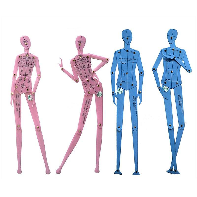Fashion Illustration Ruler Set Human Body Diagram Template Men and Women Fashion Character Template Combination Board