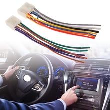 """1 مجموعة 10 دبوس 6 دبوس راديو ستيريو بالسيارة/CD/مشغل ديفيدي ISO الأسلاك تسخير موصل لتويوتا سيارة ستيريو 6.3 """"اكسسوارات السيارات"""