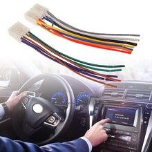 """1 conjunto de 10 pinos + 6 pinos de som de carro, rádio estéreo/cd/dvd player, iso, conector de fiação para toyota carro estéreo 6.3 """"acessórios do carro"""