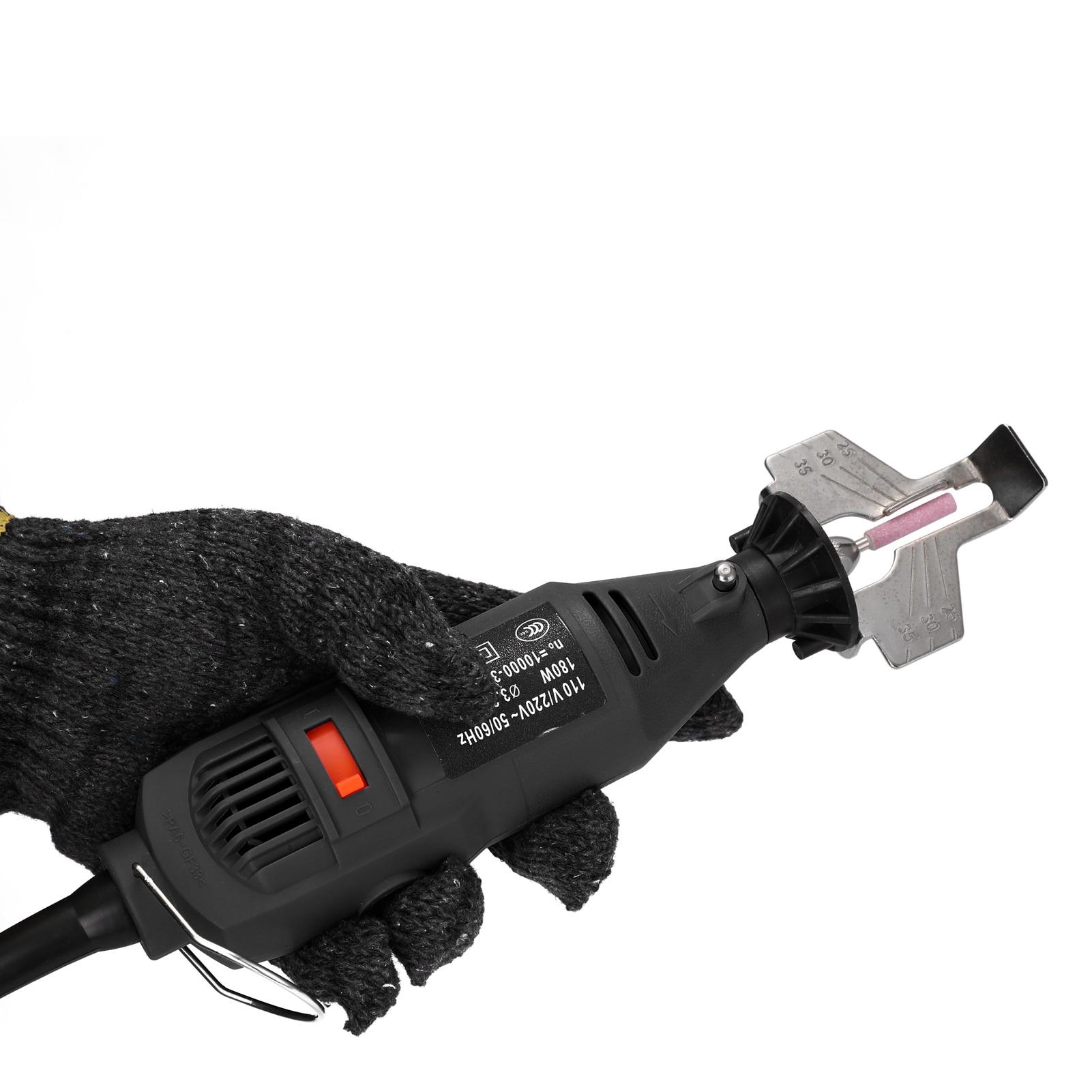 Kit de afiação de motosserra elétrica handheld