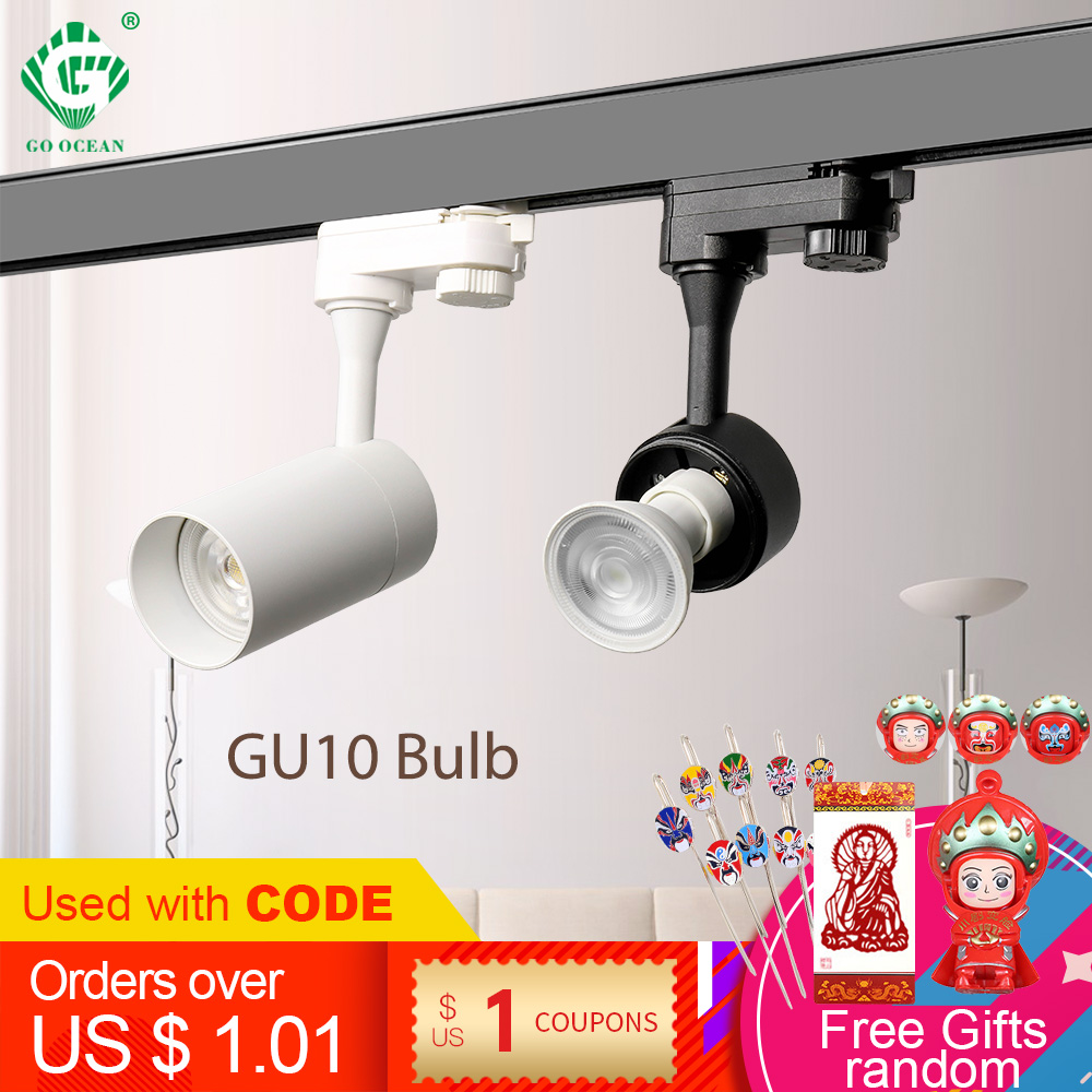 GU10 Rail Light 2 3 4 Wire Phase Spotlights Clothes Shop Store Luminaire Loft Tracking Rail LED Track Lights