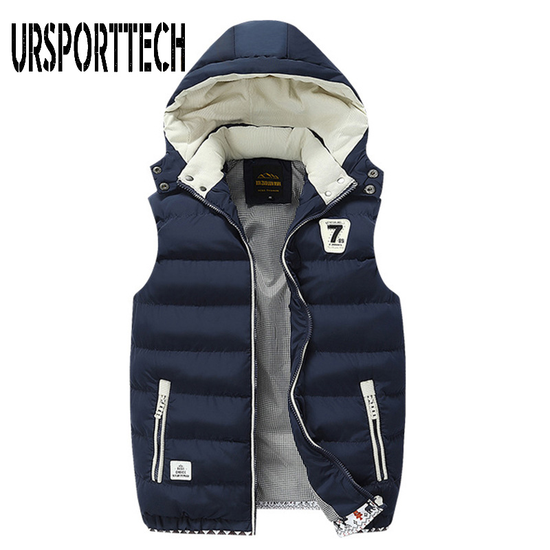 2019 New Arrival Brand Men Sleeveless Jacket Winter Thick Warm White Duck Down Vest Male Slim Vest Mens Windproof Warm Waistcoat