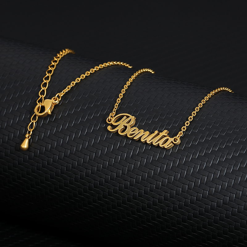 Custom Name Necklace Stainless Steel Personalized Women Necklaces Choker Customized Your Name Jewelry for Her Mothers Day Gift