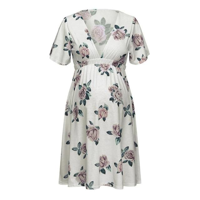 Maternity Pregnant Dresses with Short sleeves 4