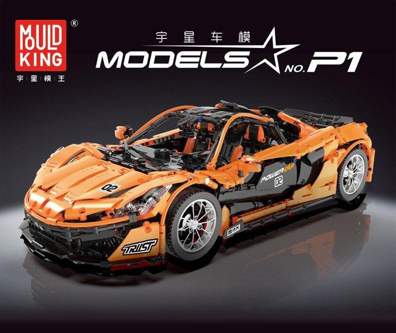 13090 Technic série P1 Orange jeu de voitures de course APP RC modèle blocs de construction puissance moteur fonction compatible legoinglys 20087