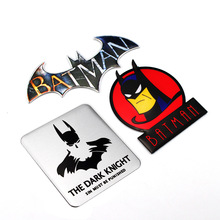 Supply Batman Superman Sticker Metal Stereo Vehicle Sticker Automotive Supplies Batman Vehicle Sticker Decorative Tag