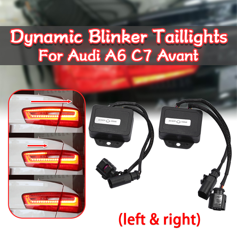 1 Pair Semi Dynamic Turn Signal Indicator Module Controller For LED Taillights For Audi A6 C7 Avant 4G 2012 2013 2014 Tail Light