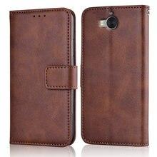 Y6 2017 тонкий кожаный флип-чехол для Huawei Y5 2017 MYA-AL10 MYA-L22 Y6 2017, чехол-бумажник с магнитной застежкой Y52017