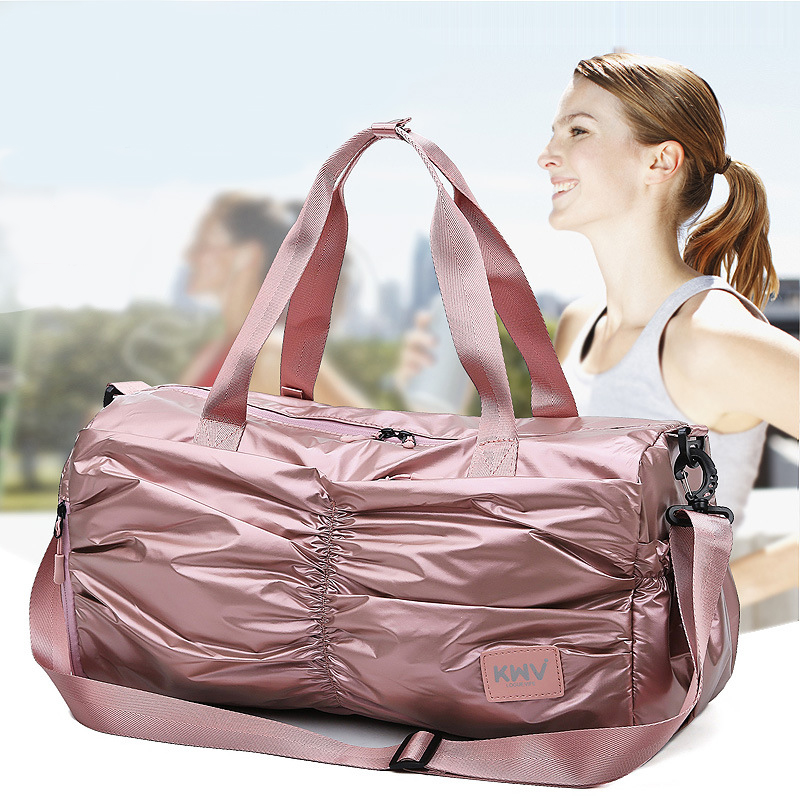 Travel Bags Women Large Capacity Oxford Unisex Dry And Wet Separation Sports Handbag Waterproof Duffel Bag Foldable Weekend Bag