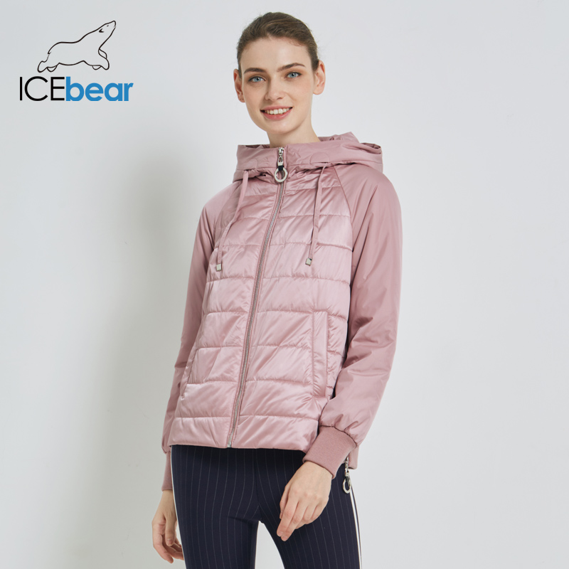 ICEbear 2019 New Women's Autumn Coat High Quality Brand Clothing Short Coat with Hat Fashion Woman Clothing GWC19070I-in Parkas from Women's Clothing    1